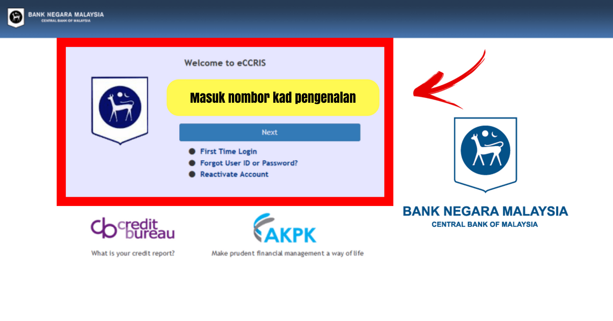 Panduan Semakan Ccris Online Melalui Sistem Eccris Bnm