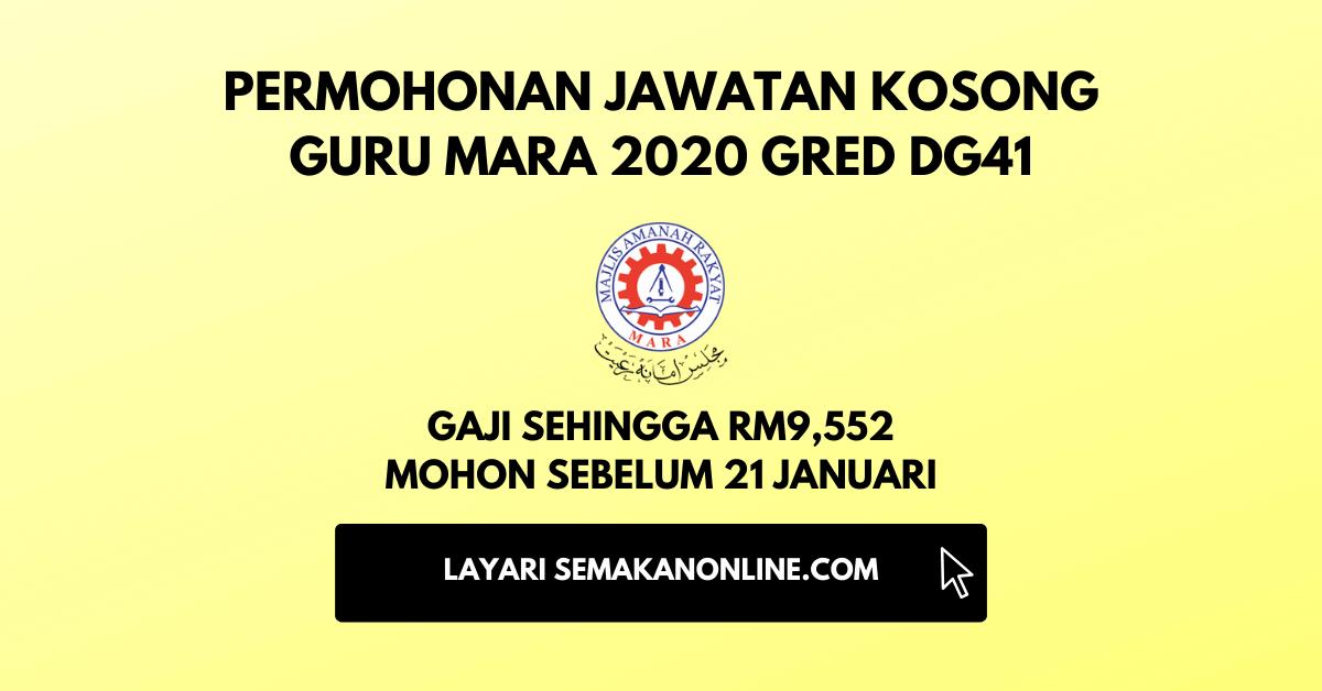 jawatan kosong guru mara 2020