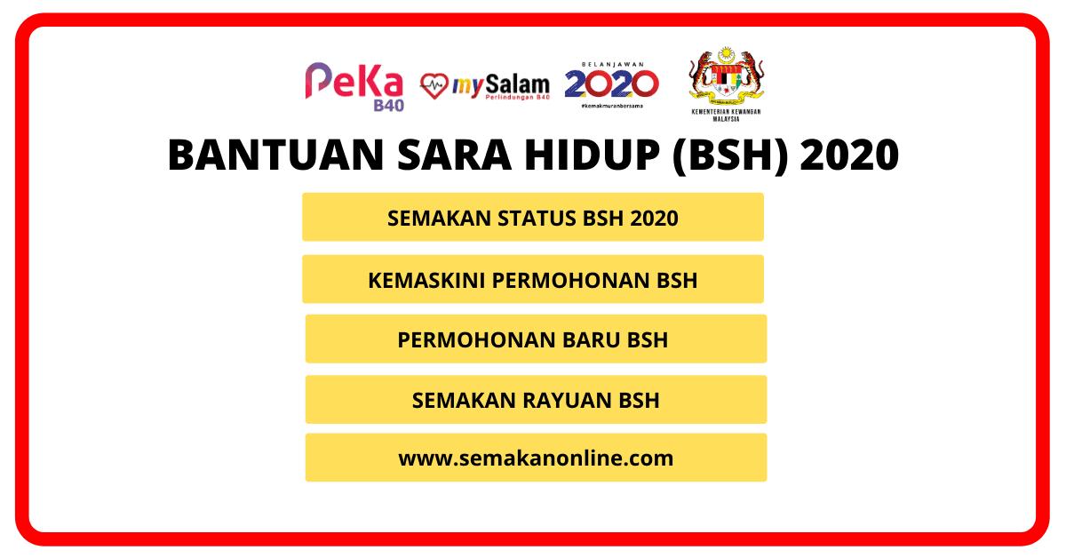 bsh bantuan sara hidup 2020